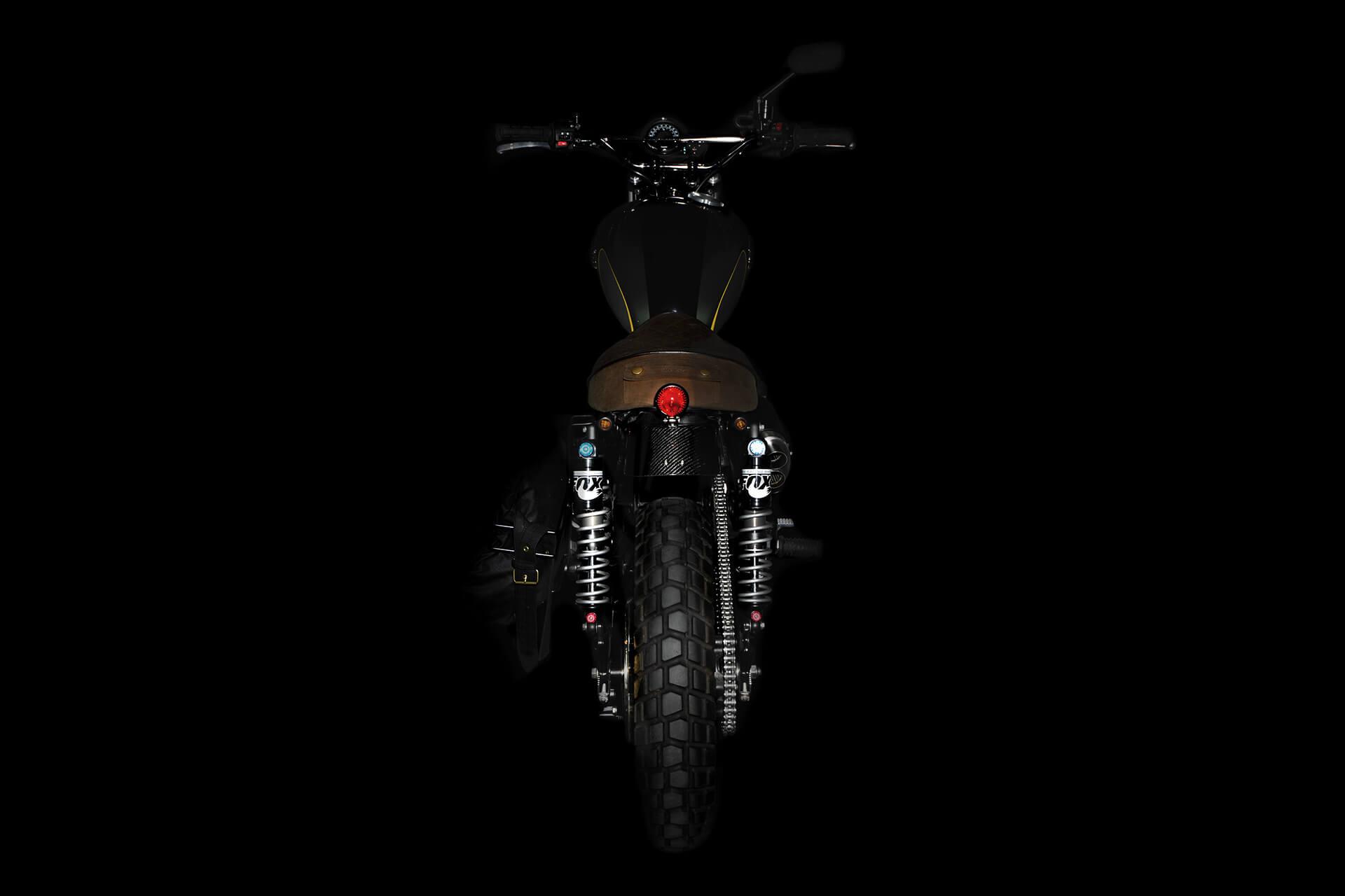 A225, Scrambler, Barbour, Barbour International, Britain, British, Photography, Film, WeAreShuffle, Biker, Motorcycle, Leather, Breaks, Break Discs, Triumph, Rear