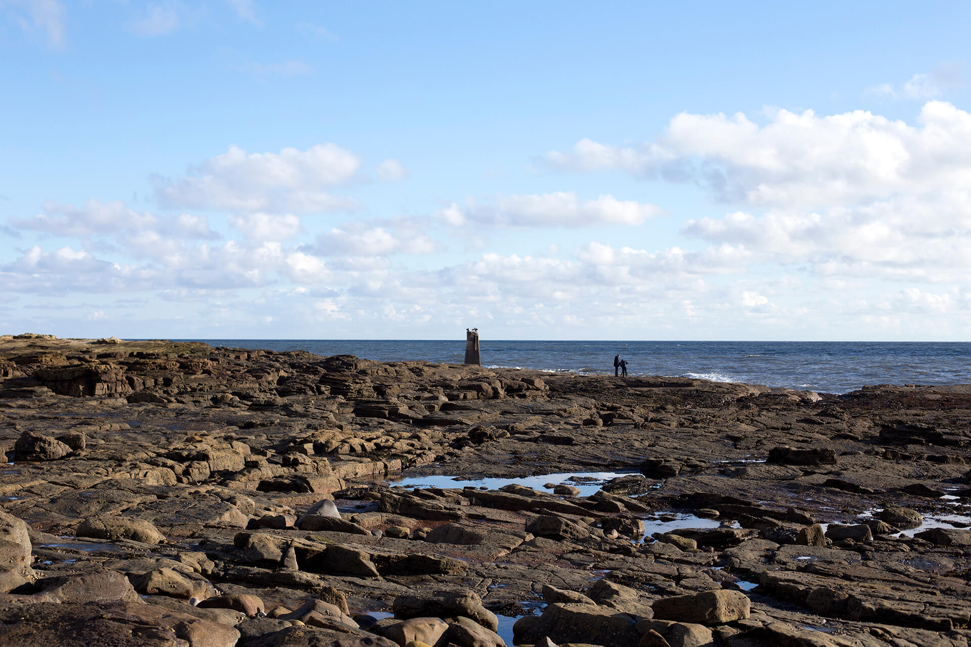 WeAreShuffle, Agency, Creative, Photography, Film, Production, Beach, Lighthouse, Whitley Bay, Sky, Clouds, Sea, Rocks