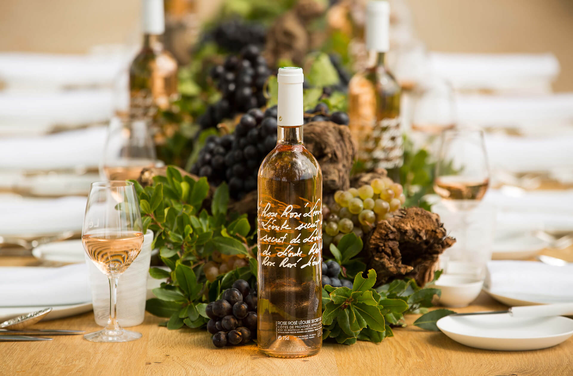 Chateau Leoube, Rose, Wine, South of France, Bamford, Organic, Table, Beautiful
