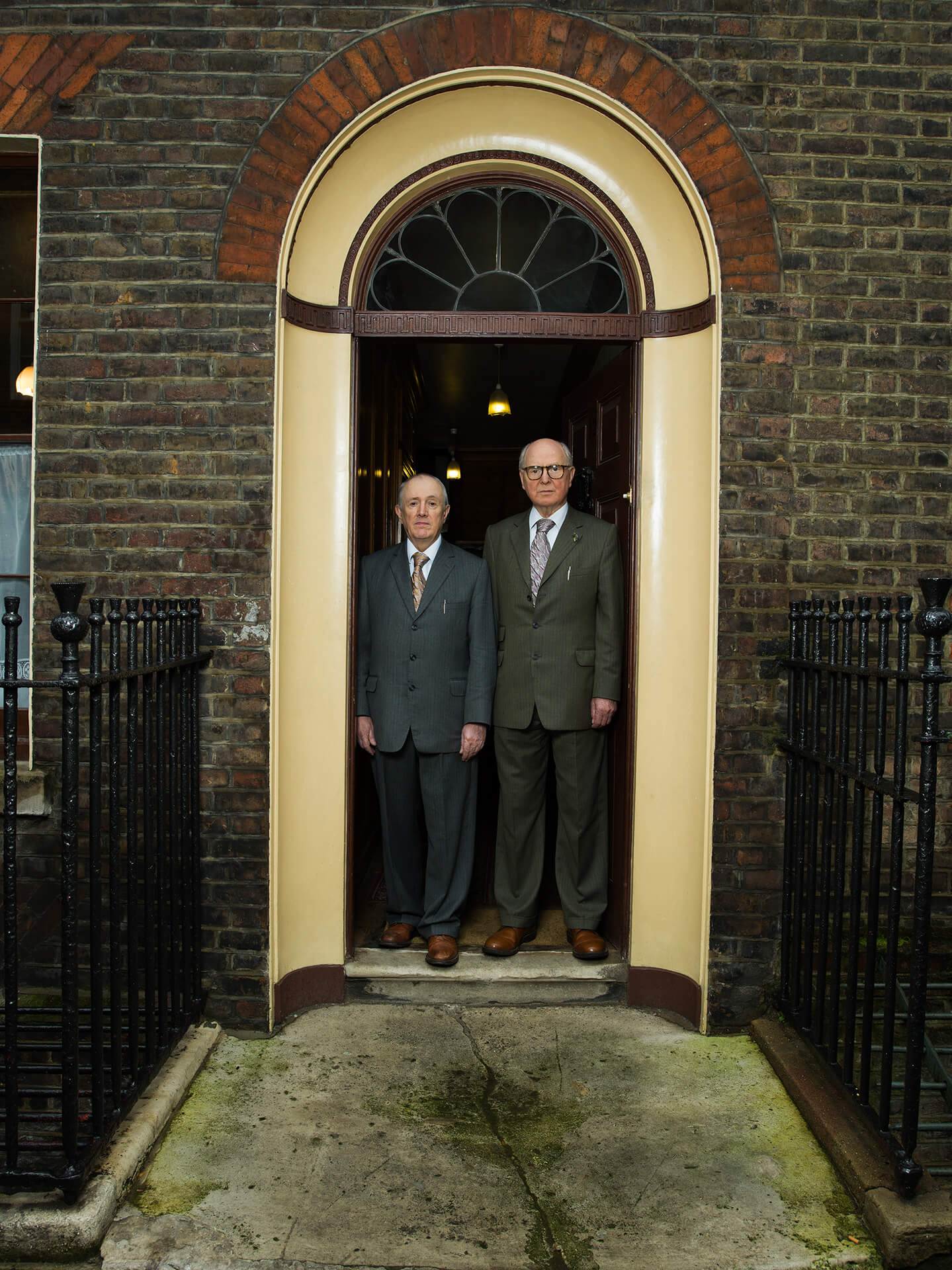 Gilbert and George, Gilbert, George, Tom Oldham, London, East London, Photography, Film, Hasselblad, Portrait, Agency, WeAreShuffle, The Longest Day, Artists,