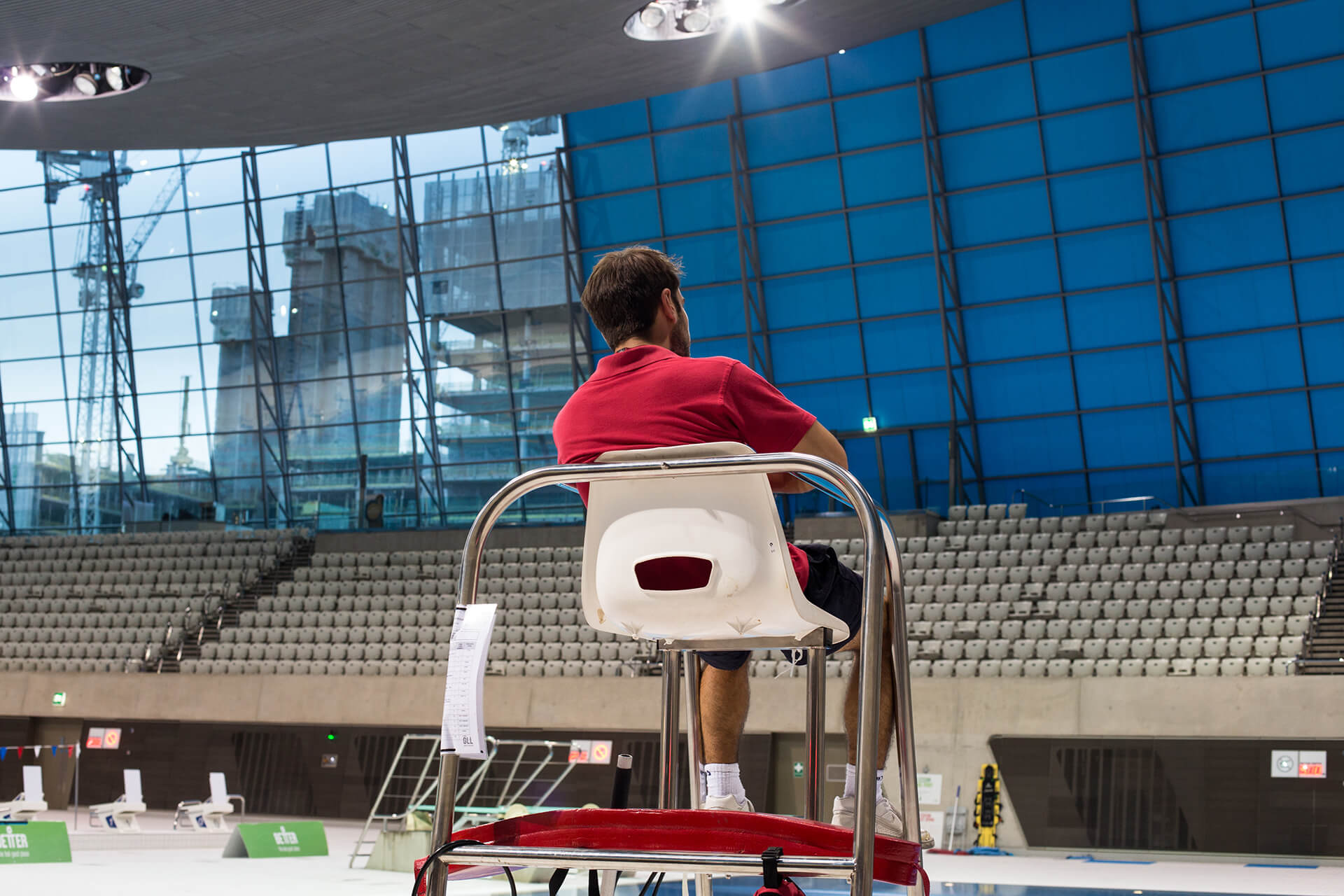 Olympic Park, Olympics, London, Landscape, Diving, Tom Oldham, Divingboard, Photography, Film, Agency, Canon, WeAreShuffle, Lifeguard, London Aquatics Centre, London Aquatics Centre, The Longest Day