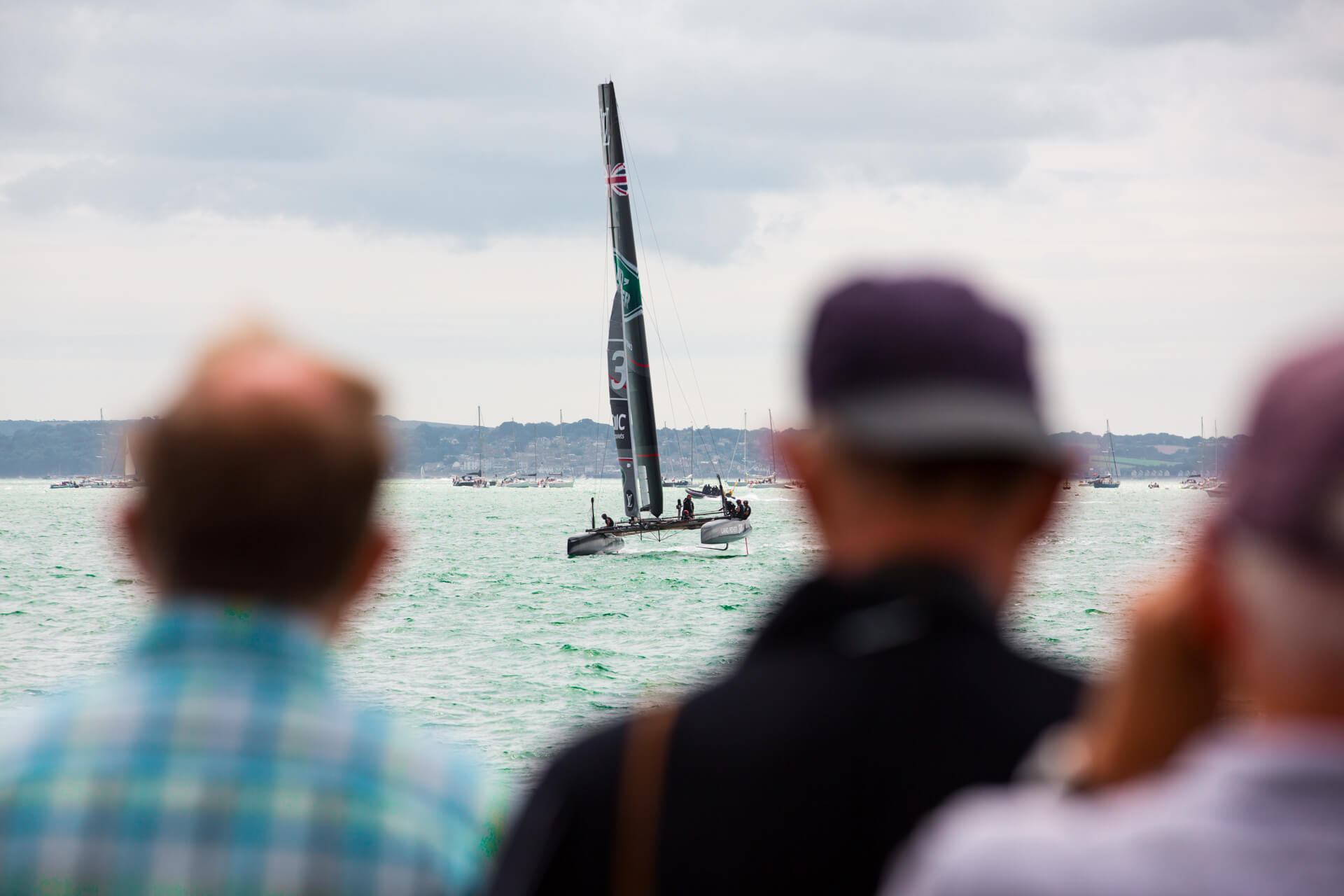 America's Cup, America Cup, World Series, Sailing, Sea, Land Rover, Louis Vuitton, Oracle, Race, Boat, Yacht, Summer, Photography, Film, Agency, Marketing, WeAreShuffle, Production, Waves, Portsmouth, Crowd