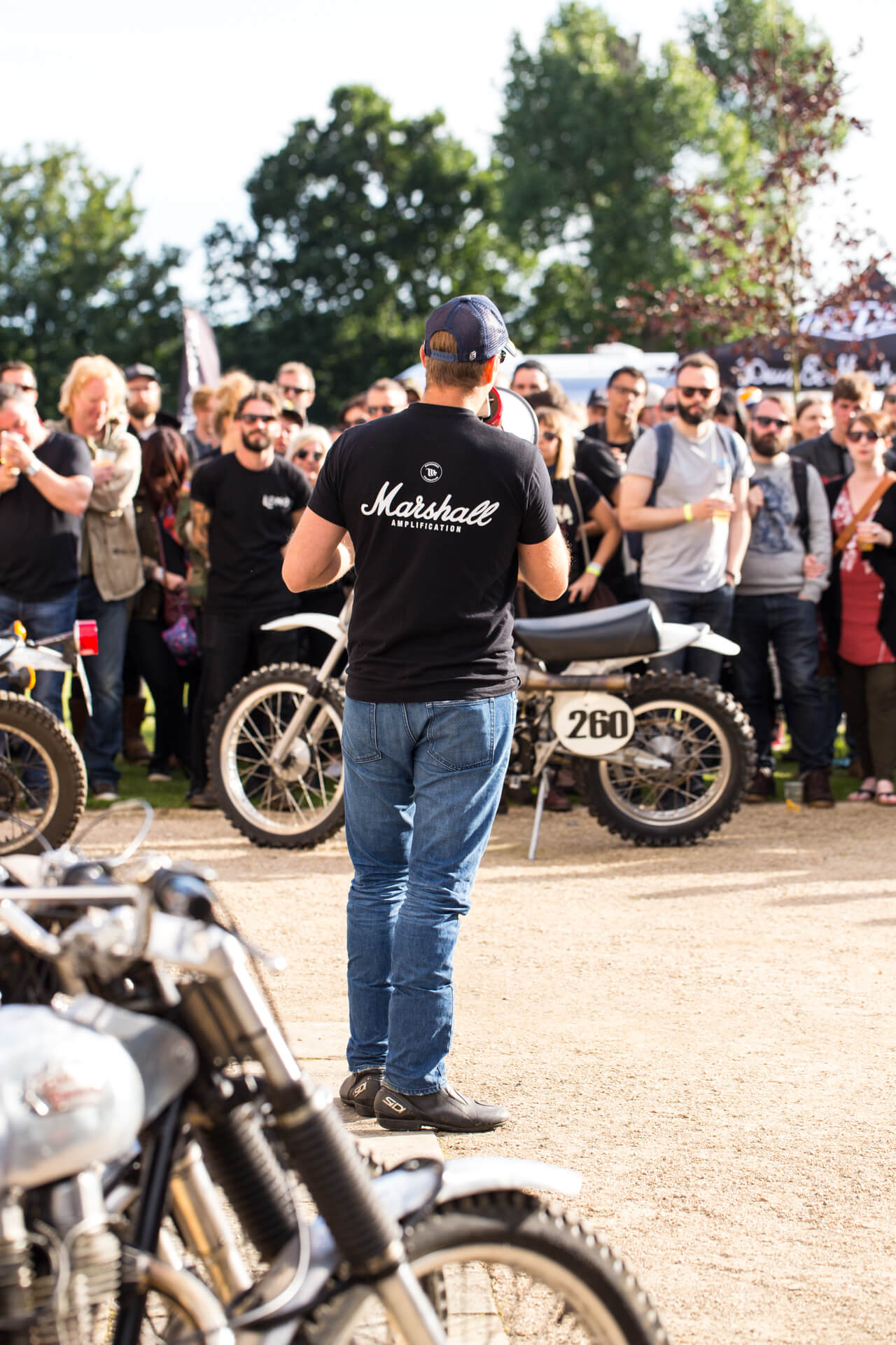 Malle Mile, Event, Motorcycle, Richard, Summer, WeAreShuffle, Agency, Photography, Film, Production, Malle London, Triumph, Flag, Biker, Movember